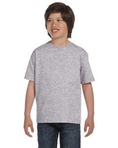 Gildan Youth 5.6 oz 50/50 Short Sleeve T-Shirt in Sport Grey - Medium (10/12)