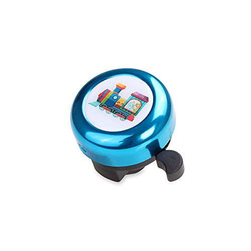 MINI-FACTORY Bike Bell for Kid Boys, Cute Blue Engine Train Children