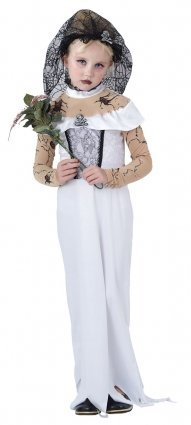 Girls Zombie Costume Dead Bride Costume Zombie Bride Fancy Dress LARGE 10-12 YEARS by (Dead Bride Costume For Girls)