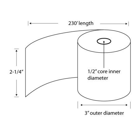 Thermal Paper Receipt Rolls, 48 Gram Weight, BPA Free, Grade A, Pure 85 White Paper, Unique Thermal Coating (2-1/4