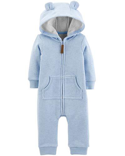 Carters Dog Blanket - Carter's Baby Boys' Dog Hooded Fleece Jumpsuit, Blue, 24M
