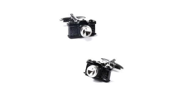 Gemelos Camara Reflex Negra Modelo II: Amazon.es: Joyería