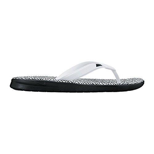 Nike Wmns Solay Thong Print, Zapatillas Bajas Para Mujer blanco/negro