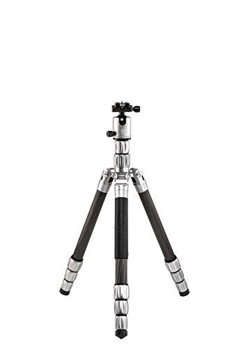 MeFOTO Globetrotter S 61.6″ Carbon Fiber Travel Tripod/Monopod w/Case, Twist Locks, Dual Action Ballhead w/Arca Swiss Plate for Mirrorless/DSLR Sony Nikon Canon Fuji – Titanium (GTSCTTN)