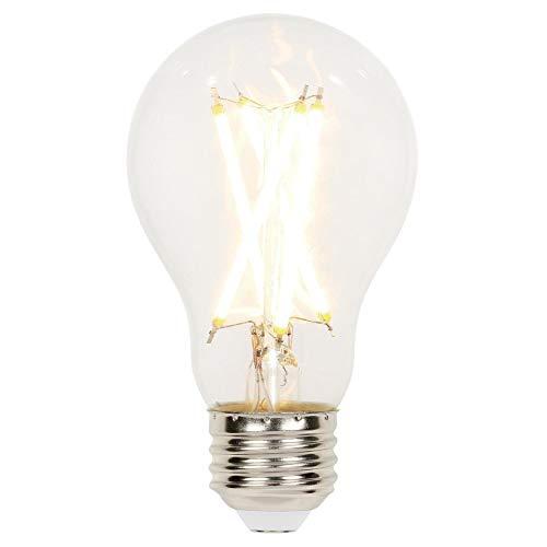 Clear 75w Light Bulb - Westinghouse Lighting 5167000 10 (75-Watt Equivalent) A19 Dimmable Clear Filament, Medium Base LED Light Bulb,
