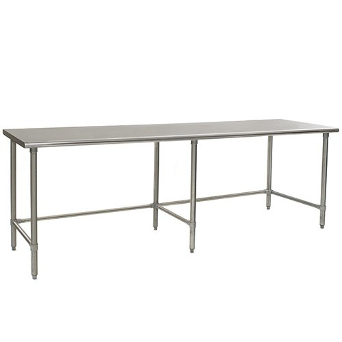 Table Stainless Steel Solid Top (Eagle T3696STB Stainless Steel Work Table with Stainless Steel Tube Base, 36