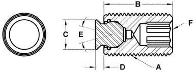 SS Cone 3//8-24 x /½ Fairlane TBU-0230-FC Threaded Design Swivot