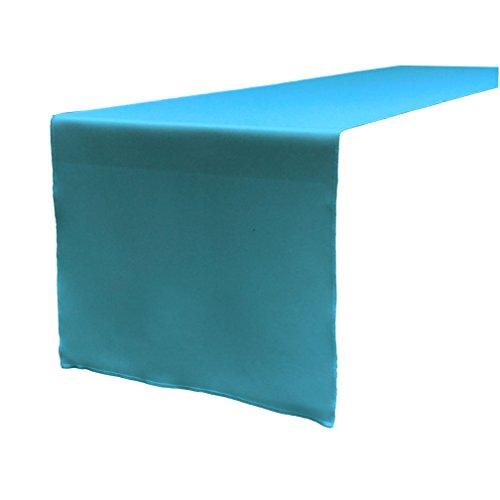 La ropa poliéster popelín Camino de mesa, 14por 108-inch, color turquesa oscuro