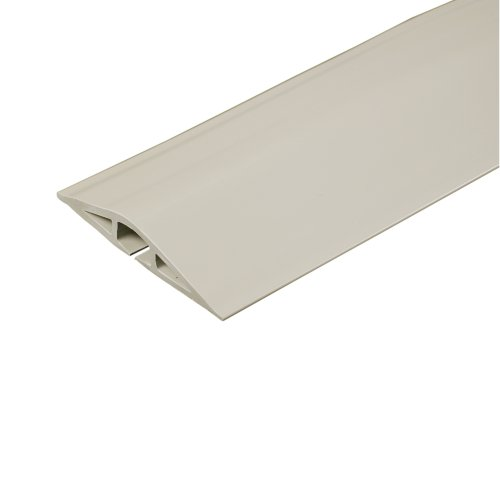 Legrand - Wiremold CDI-5 Corduct Overfloor Cord Protector-  Rubber Duct Floor Cord Cover, Ivory, 5 Feet (60 Inches) - Electrical Cord Cover
