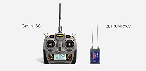 7 Channel System (Detrum 2.4G Gavin-6C 6CH 6-Channel TX Tx Transmitter W/ Programmable ABS System RXC7 7CH 7-Channel RX Rx Receiver DTM-T001)