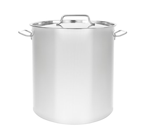 CONCORD Triply Bottom Stainless Steel Stock Pot Home Brew Kettle (80 QT) by Concord Cookware