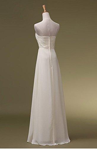 förmlichen Beauty Maxi Pailletten Abendkleider Trägerloses lang Weiß Emily 6nqUw6P