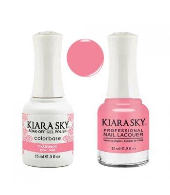 Kiara Sky Matching Gel Polish + Nail Lacquer, Chatterbox, .5