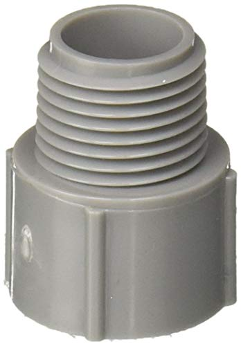 THOMAS & BETTS/CARLON E943D10-UPC Thomas & Betts E943D10 Terminal Adapter, 1/2 In Rigid, Male Thread X Socket, Sch 40, Pvc
