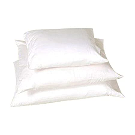 White Lotus Home KDPZ05 Kapok Decorative Pillow with Organic Twill Outer Case with Zipper 21x8 Round Bolster Natural