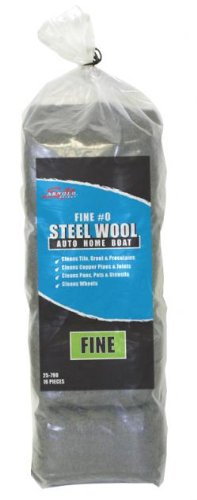 Grade 0 Fine Steel Wool 16Pds/Bag-3Pack