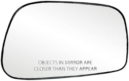 Fit System 80186 Toyota Corolla//Matrix Right Side Power Replacement Mirror Glass with Backing Plate
