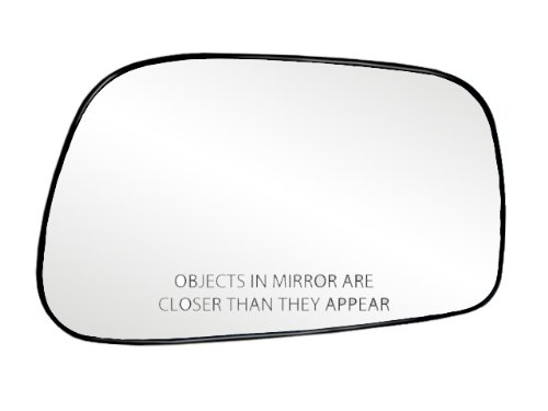 Fit System 80186 Toyota Corolla/Matrix Right Side Power Replacement Mirror Glass with Backing Plate (Plate Matrix)