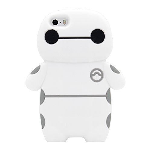iPhone SE Case, MC Fashion 3D Super Cute Big Hero Baymax Shockproof and Protective Silicone Phone Case for iPhone 5/5S/SE (Baymax)
