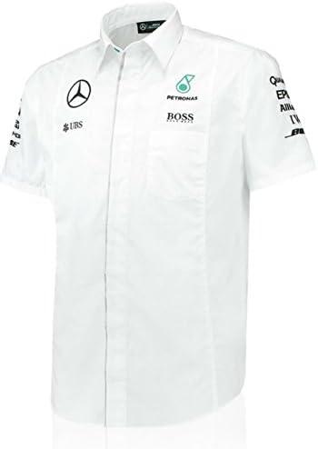 Mercedes AMG Petronas blanco equipo camiseta, L, Blanco: Amazon.es: Deportes y aire libre