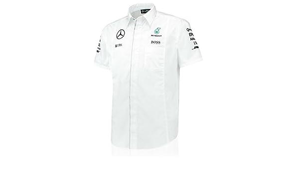 Mercedes AMG Petronas blanco equipo camiseta, L, Blanco: Amazon.es ...