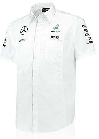 6939c1b145 Chemise Blanche Mercedes AMG Petronas Équipe F1 pour homme - Blanc - XL