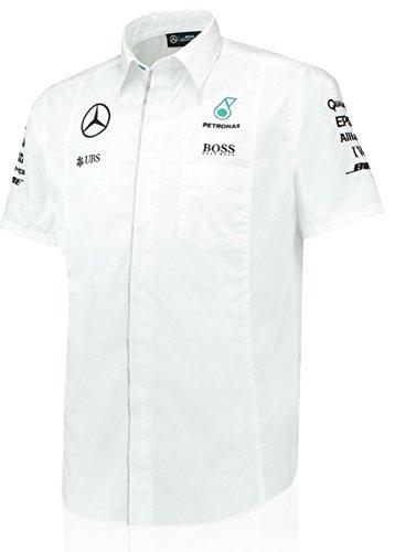 Mercedes AMG Petronas Blanco Equipo Camiseta, Blanco: Amazon.es ...