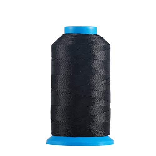 Bonded Nylon Sewing Thread 1500 Yard Size T70 69 Color Black Works with All Embroidery Machines Leather Bag Shoes