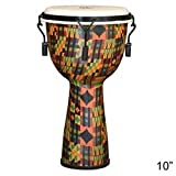 X8 Drums & Percussion X8-DJ-KT-M-S Kente Cloth Mechanically Tuned Djembe Drum Small