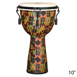 X8 Drums & Percussion X8-DJ-KT-M-S Kente Cloth Mechanically Tuned Djembe Drum, - Kits Drum Small