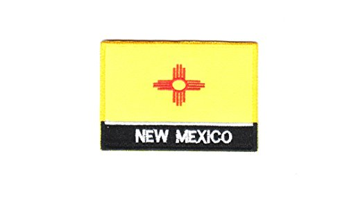 (USA State United States Iron on Flag Patch Heat Seal Multicolor Applique (New Mexico NM))