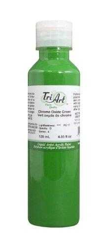 Tri-Art Finest Liquids Artist Acrylics, 120ml, Chrome Oxide Green - Chrome Oxide Green