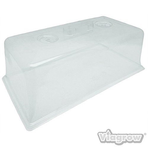 Viagrow VTD300-50 Clear Plastic 7 in Tall Prop Domes (50 Pack)