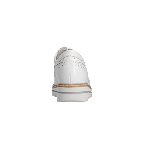 Giardini P805210D Cordones Para Bianco Nero Zapatos Mujer Blanco de wqdwpC