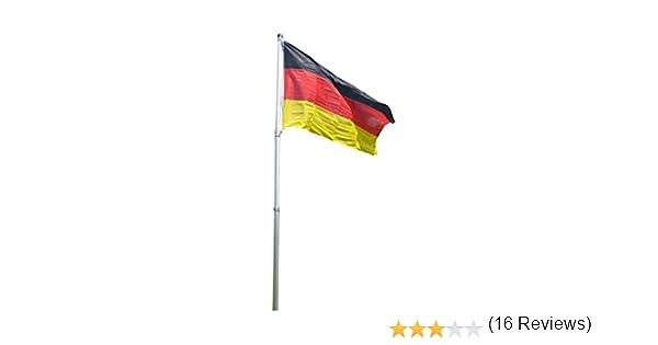 Mástil telescópico de 4 m, de aluminio y bandera de Alemania ...