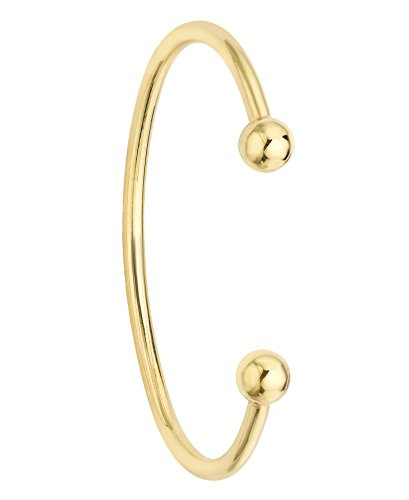 Carissima Gold Childs 9 ct Yellow Gold Torque Bangle Armband