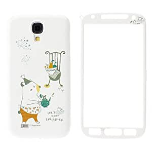 JOE Bear and Mouse Pattern Front and Back Case for Samsung Galaxy S4 I9500