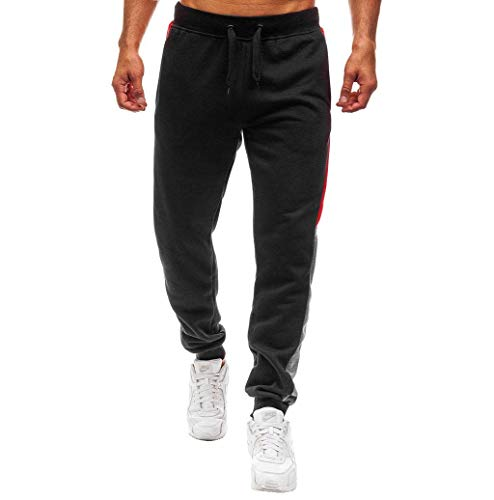 Photno Men's Sweatpants with Pockets Elastic Bottom Classic Joggers Drawstring Pants Trousers