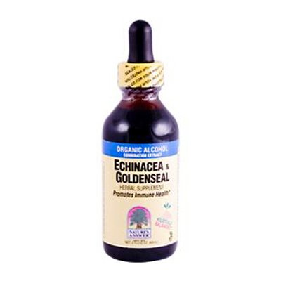 Echinacea/Goldenseal Extract Organic Alcohol Nature's Answer 2 oz Liquid