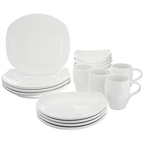 Dansk 16-Piece Classic Fjord Porcelain Dinnerware Set White  sc 1 st  Amazon.com & Modern White Porcelain Dinnerware: Amazon.com