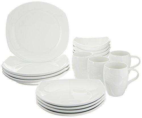 Dansk 16-Piece Classic Fjord Porcelain Dinnerware Set, White