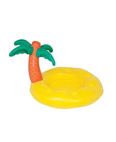 SUNNYLIFE Tropical Island Inflatable Pool Bar, Yellow