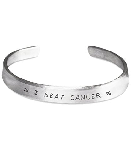 I BEAT CANCER Stamped Bracelet