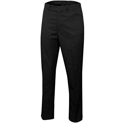 Island Green Herren IGPNT1855 Mens Tapered Trouser Black W32 Reg Hose, Schwarz, 32R