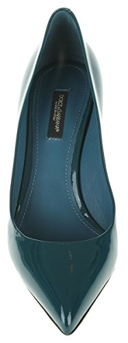 Dolce E Gabbana Femme C18559A1471BLUE Bleu Cuir Vernis Escarpins
