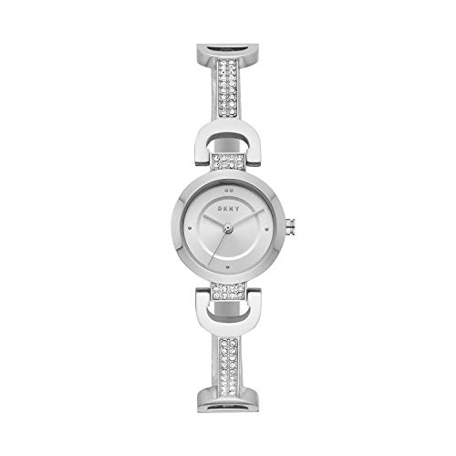 DKNY Women's City Link Quartz Watch with Stainless-Steel Strap, Silver, 5 (Model: NY2751)
