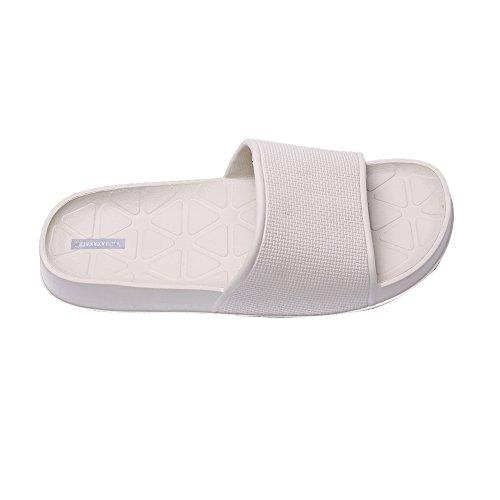Zapatillas de Baño de Piso de Interior Unisex Zapatillas de Baño Antideslizante (41, azul)