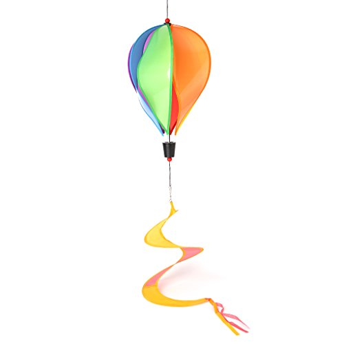 EA-STONE DIY Hot Air Balloon Windmill,Rainbow Spinning Windmill for Children's Outdoor Toys Home Windowsill Ornament (Rainbow Wind Generator)