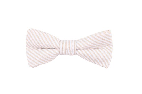Born to Love - Boys Kids Pre Tied Bowtie Christmas Holiday Party Dress Up Bow Tie (Medium, Light Striped) by Born to Love