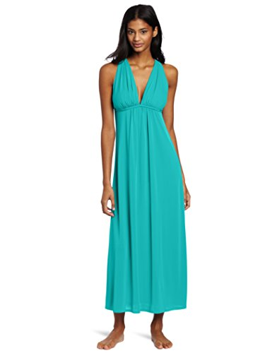 Natori Women's Aphrodite Nightgown, Turquoise, Small